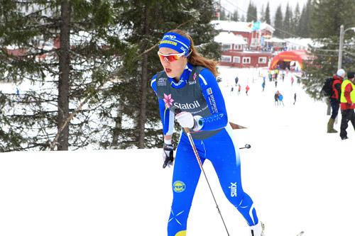 Guro Bostad, Strindheim, har vært syk under hele Junior-VM-oppholdet hittil og får ikke delta på noen konkurranse da trondheimeren fortsatt er dårlig. Bildet er fra NM for juniorer 2014. Foto: Erik Borg.
