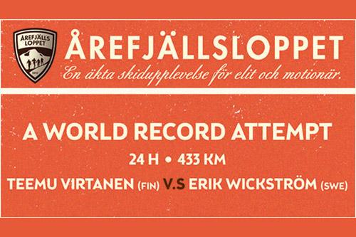Plakat for Årefjällsloppets stakekonkurranse - 24h.
