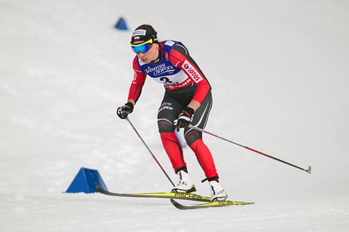 Justyna Kowalczyk på vei mot prologseier under VM-sprinten i Falun 2015. Foto: NordicFocus.