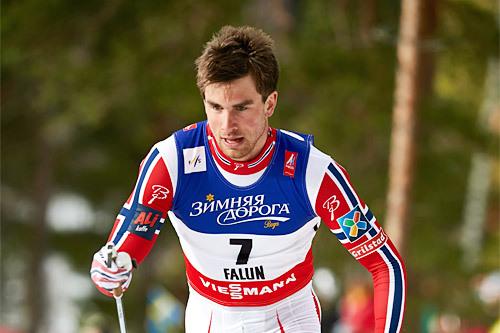 Tomas Northug på VM-sprinten 2015 i Falun hvor han til slutt sikret 6. plass. Foto: NordicFocus.
