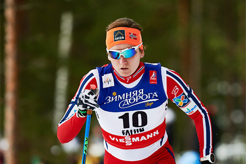 Celine Brun-Lie ute i VM-sprinten 2015 under mesterskapet i Falun. Foto: NordicFocus.