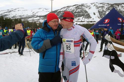 Eldar Rønning etter seier i Skienern 2015. Arrangørfoto.