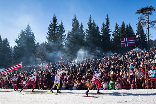 Fra 5-mila i Holmenkollen. Foto: Laiho/NordicFocus.
