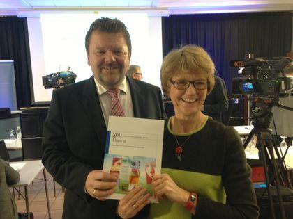 Elisabeth S. Gundersen og Øystein Djupedal
