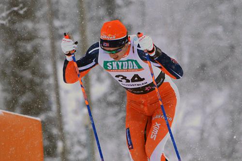 Trygve Henden Gaasø på 15 kilometer klassisk under den nasjonale sesongåpningen på Beitostølen 2014. Foto: Erik Borg.