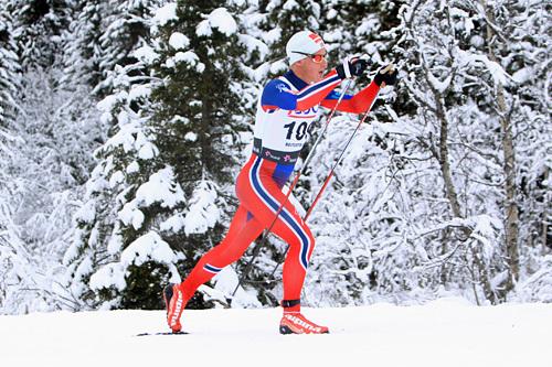 Rolf Einar Jensen ute på 15 kilometer klassisk under den nasjonale sesongåpningen på Beitostølen 2014. Foto: Erik Borg.