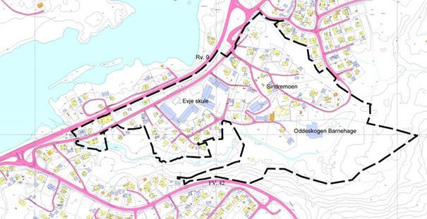 Varsel om oppstart av planarbeid, detaljregulering for Sindremoen, planID 201502.jpg