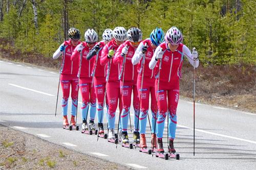 TEAM SkiProAm på treningssamling i Idre Fjäll 2015. Foto: Team SkiProAm.