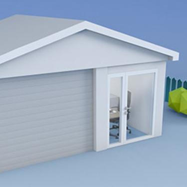 Garasje illustrasjonsbilde