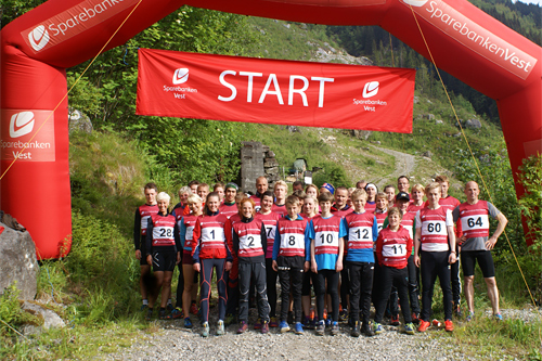 Klart for start i Freimslia Opp 2015. Foto: Asle Lægreid.