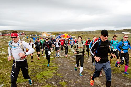 Illustrasjonsbilde fra ultraløpet Salomon Xreid Hardangervidda. Foto: Kai-Otto Melau.