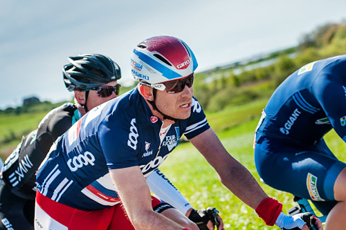Etappeseier i Tour des Fjords er en av Kristoffs mange meritter sesongen 2015. Foto: Szymon-Gruchalski.