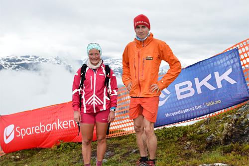 Maren Wangensteen og Lars Erik Skjervheim seiret under Kvasshovden Opp 2015. Foto: Kvasshovden Opp.