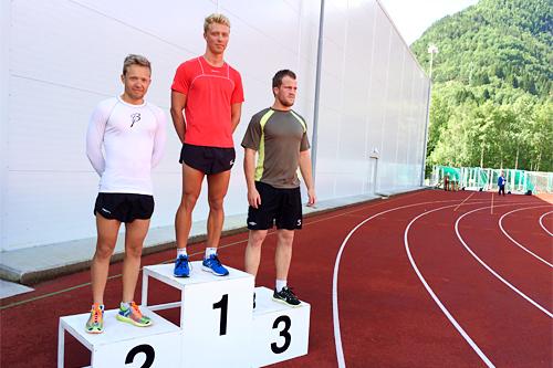 Pallen blant herrene på minimaraton under Hornindalsvatnet Maraton 2015. Foto: Privat.