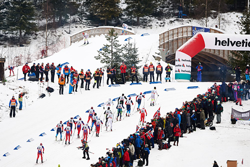 Fra verdenscupen på Lillehammer i desember 2014. Foto: Felgenhauer/NordicFocus.