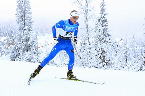 Sindre Sætre Hammerlund under sesongåpningen på Beitostølen et tidligere år. Lørdag vant han seniorklassen i Nyttårsrennet samme sted. Foto: Erik Borg.