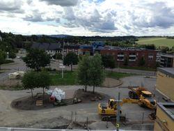 Skoleplassen sett fra tak bygg C