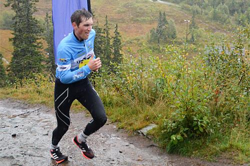 Kristian Engen Forbord på vei mot seier i Trondheims Bratteste 2015. Arrangørfoto.