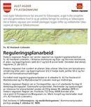 Annonse reguleringsplanarbeid fv. 42 Hovland - Lislevatn