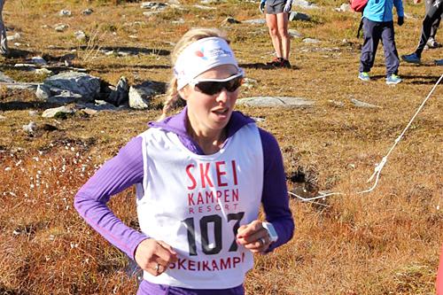 Kristin Størmer Steira inn til seier i Skeikampen Opp. Foto: Skeikampen Resort.