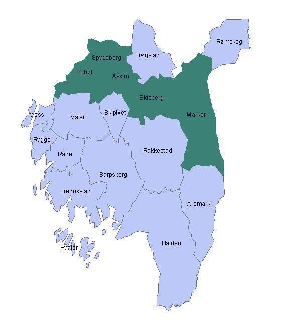 Østfoldkommuner 5K, kart