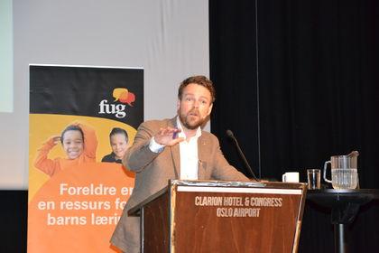 Kunnskapsministeren på Foreldrekonf15 (Foto FUG)
