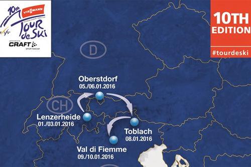 Kart for Tour de Ski 2016.
