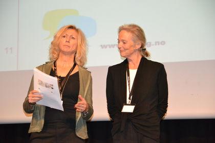Lou C Noreen og Kjersti Falck på Foreldrekonferansen 2015