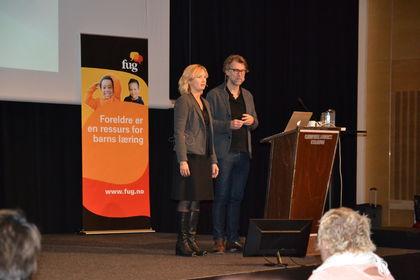 Ida Brndzæg og Stig Torsteinson på Foreldrekonferansen 2015