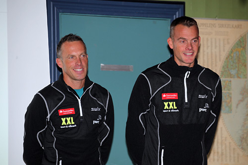 Anders (t.v.) og Jørgen Aukland. Foto: Erik Borg.