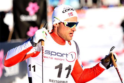 Petter Northug legger i vei som nummer to i finalen av Ski Tour Canada. Foto: Geir Nilsen/Langrenn.com.