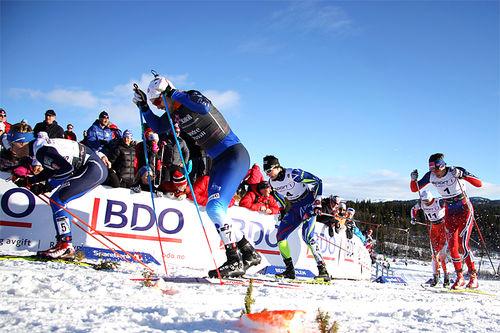 Sprinten under Beitosprinten 2015. Foto: Geir Nilsen/Langrenn.com.
