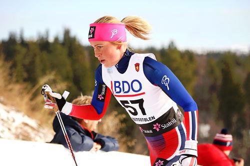 Silje Theodorsen i Beitosprinten 2015. Foto: Geir Nilsen/Langrenn.com.