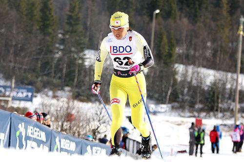 Masako Ishida i Beitosprinten. Foto: Geir Nilsen/Langrenn.com.