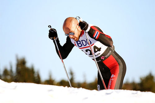 Tord Asle Gjerdalen på 15 kilometer klassisk i Beitosprinten. Foto: Geir Nilsen/Langrenn.com.