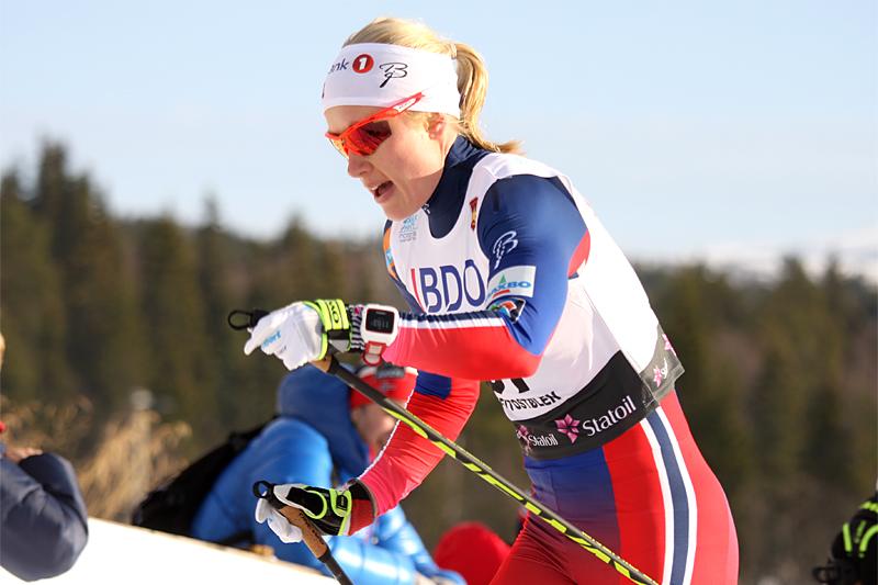 Ragnhild Haga i Beitosprinten. Foto: Geir Nilsen/Langrenn.com.
