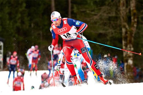 Niklas Dyrhaug underveis i en tidligere utgave av Tour de Ski. Foto: Felgenhauer/NordicFocus.