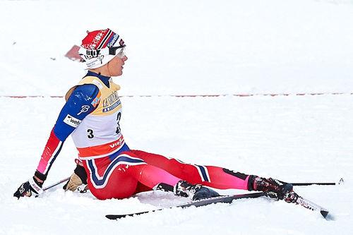Heidi Weng må se langt etter deltakelse i NM-stafetten på Gåsbu. Foto: Felgenhauer/NordicFocus.