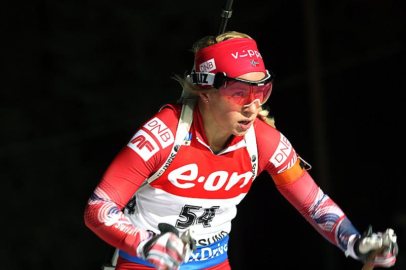 Tiril Eckhoff under verdenscupen i Östersund 2015. Foto: Manzoni/NordicFocus.