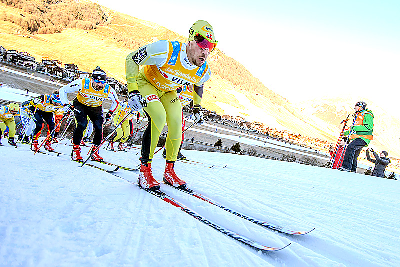 John Kristian Dahl på vei mot seier i La Sgambeda. Foto: Rauschendorfer/NordicFocus.