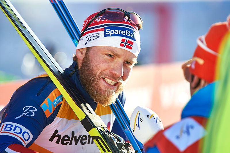Martin Johnsrud Sundby vant 30 km fristil under verdenscupen i Davos 2015 i solid stil. Foto: Felgenhauer/NordicFocus.