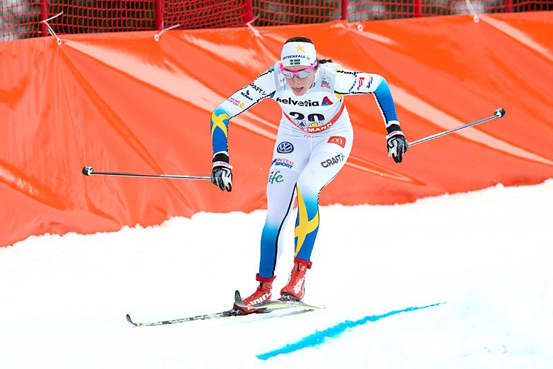Sofia Henriksson under verdenscupen i Davos forrige vinter. Foto: Rauschendorfer/NordicFocus.