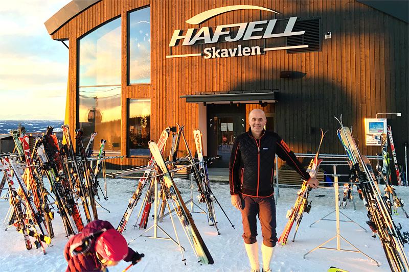 Roy Håkon Eggesvik fra Skavlen Restaurant på Mosetertoppen. Foto: Hafjell Ski Marathon.