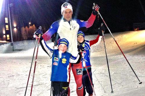 Petter Northug i forbindelse med Strindheimstafetten forrige vinter. Foto: Strindheim Ski.
