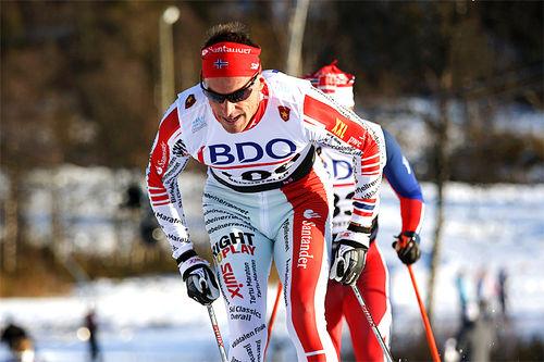 Anders Aukland på 15 km klassisk i Beitosprinten 2015. Foto: Geir Nilsen/Langrenn.com.