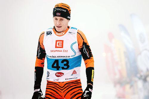Petter Eliassen gikk i mål godt over 3 minutter før de nærmeste konkurrentene i Jizerska 2016. Foto: Magnus Östh/Ski Classics.