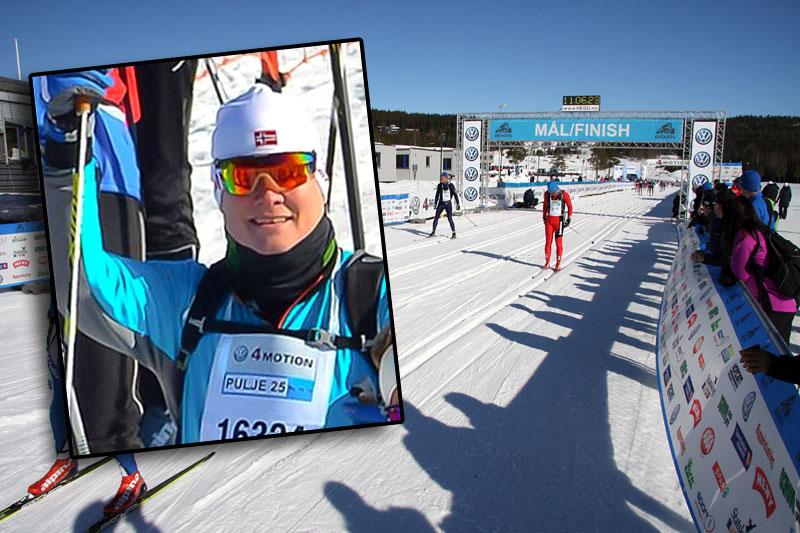 Rune Hansen, innfelt i bildet, er godt fornøyd med sin deltakelse i Birkebeinerrennet 2015. Foto: Privat og Geir Nilsen/Langrenn.com.