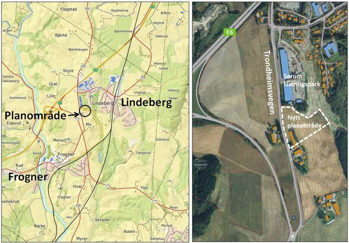 lindeberg kart Regulering av nytt næringsområde ved Lindeberg   Sørum kommune lindeberg kart
