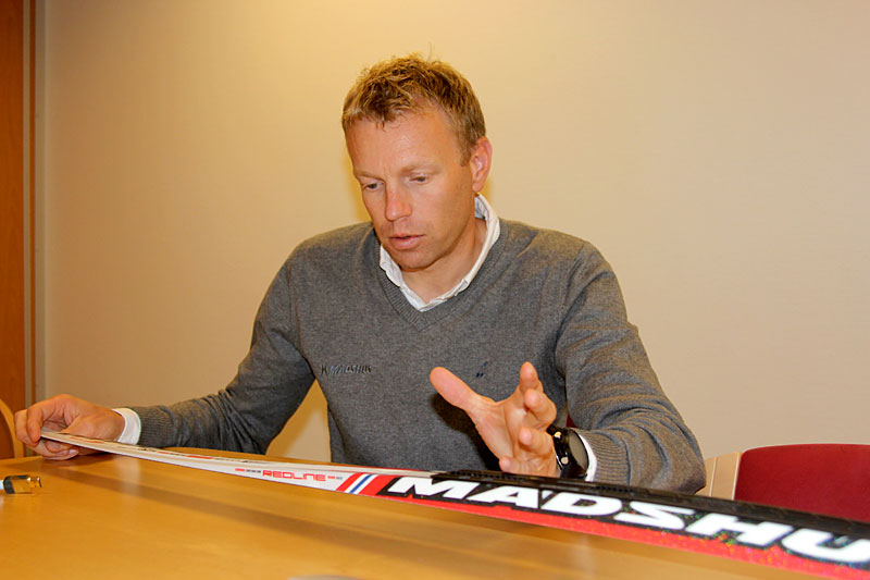 Bjørn Ivar Austrem hos skifabrikanten Madshus. Foto: Ingeborg Scheve.
