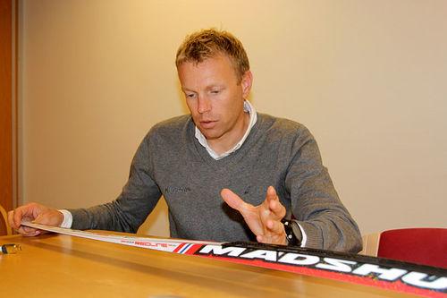 Bjørn Ivar Austrem er sjef for innovasjon og utvikling hos skifabrikanten Madshus. Foto: Ingeborg Scheve.